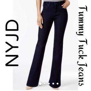 NYDJ Tummy Tuck Black Stretch Jeans Size 8P